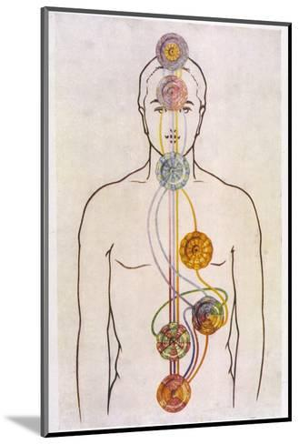 The Seven Chakras and the Streams of Vitality-C.w. Leadbeater-Mounted Giclee Print