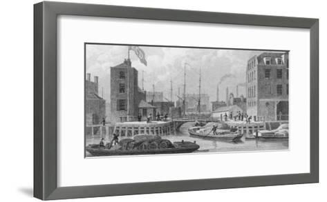 Regent's Canal (Grand Union) Entrance at Limehouse-F.j. Havell-Framed Art Print