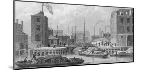 Regent's Canal (Grand Union) Entrance at Limehouse-F.j. Havell-Mounted Giclee Print