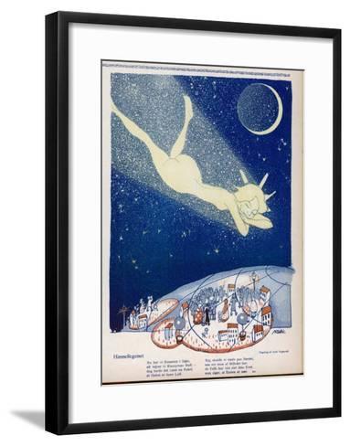 Halley's Comet Soars Over Denmark-Axel Nygaard-Framed Art Print