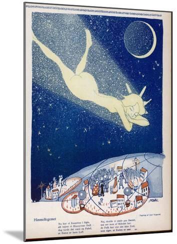 Halley's Comet Soars Over Denmark-Axel Nygaard-Mounted Giclee Print