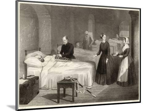 In Scutari Florence Nightingale Assists While a Doctor Puts a Splint on a Patient's Arm- Greatbach-Mounted Giclee Print