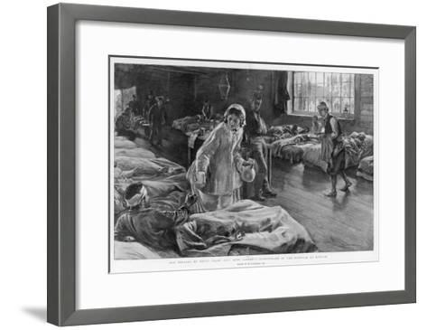 In Scutari Florence Nightingale Attends to a Patient-William Hatherell-Framed Art Print