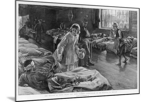 In Scutari Florence Nightingale Attends to a Patient-William Hatherell-Mounted Giclee Print