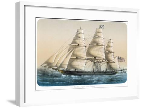 """The American Clipper Ship """"Challenge"""" of New York- Lebreton-Framed Art Print"""
