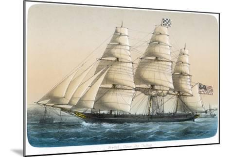 """The American Clipper Ship """"Challenge"""" of New York- Lebreton-Mounted Giclee Print"""