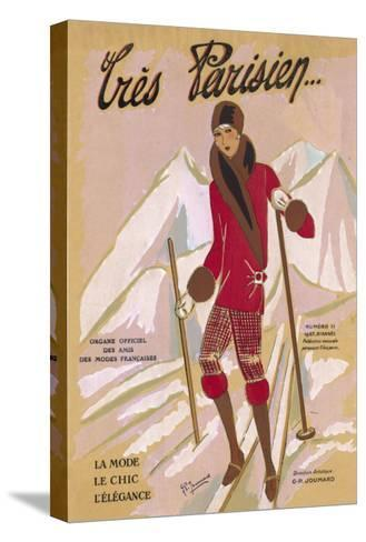 What the Elegant Frenchwoman is Wearing on the Slopes This Winter-G.p. Joumard-Stretched Canvas Print