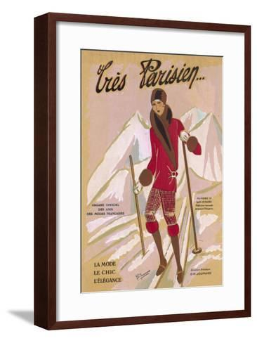 What the Elegant Frenchwoman is Wearing on the Slopes This Winter-G.p. Joumard-Framed Art Print