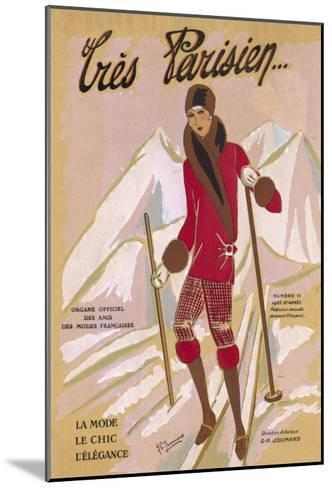 What the Elegant Frenchwoman is Wearing on the Slopes This Winter-G.p. Joumard-Mounted Giclee Print