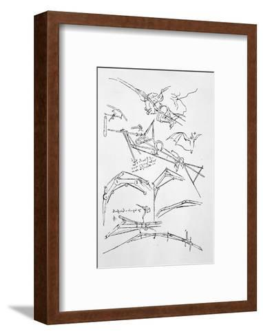 Sketches of Flying Machines-Leonardo da Vinci-Framed Art Print