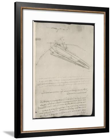 Sketch of a Design for a Flying Machine-Leonardo da Vinci-Framed Art Print