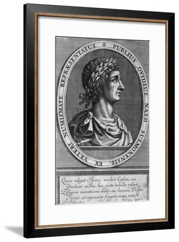 Publius Ovidius Naso Known as Ovid Roman Poet-P. Philips-Framed Art Print