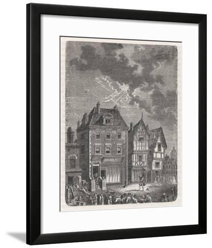 Benjamin Franklin's First Lightning Conductor on Benjamin West's House- Lebreton-Framed Art Print