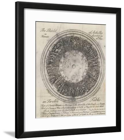 The Shield of Achilles in 12 Tables: 3 of a Town in Peace-Samuel Gribelin-Framed Art Print