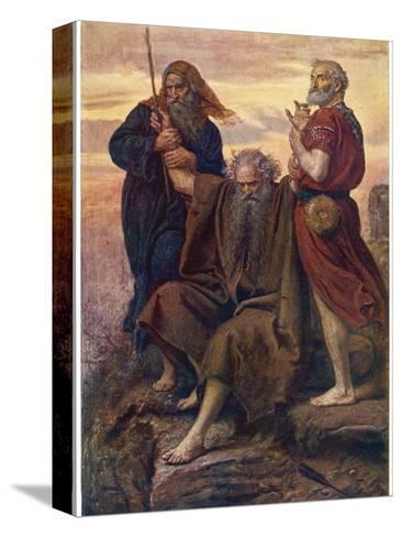 The Israelites are Enabled to Defeat the Amalekites Because Moses Arms are Held up by Aaron and Hur-John Everett Millais-Stretched Canvas Print