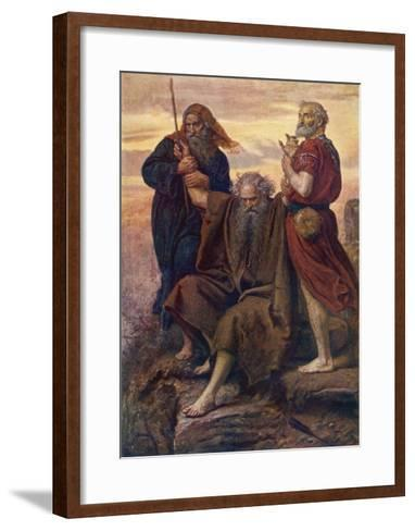 The Israelites are Enabled to Defeat the Amalekites Because Moses Arms are Held up by Aaron and Hur-John Everett Millais-Framed Art Print