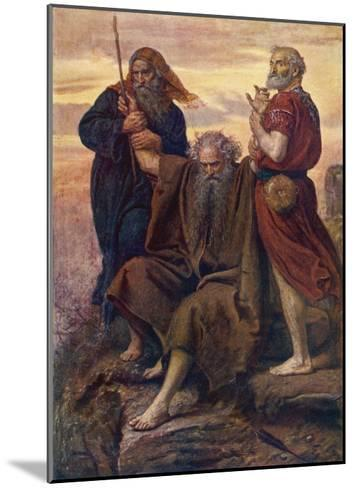 The Israelites are Enabled to Defeat the Amalekites Because Moses Arms are Held up by Aaron and Hur-John Everett Millais-Mounted Giclee Print