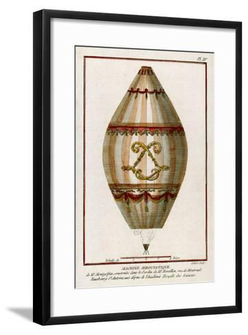 The First Practical Balloon Montgolfier's First Air Balloon Unmanned was Launched-Charles Francois Sellier-Framed Art Print