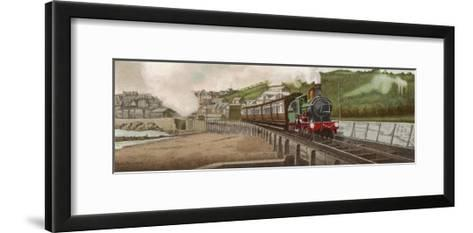 """The """"Cornishman"""" Express of the Great Western Railway Carries Passengers from London to Cornwall-F. Moore-Framed Art Print"""