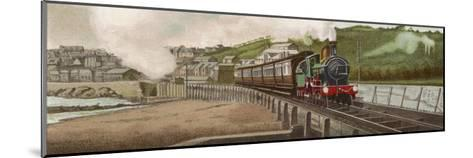 """The """"Cornishman"""" Express of the Great Western Railway Carries Passengers from London to Cornwall-F. Moore-Mounted Giclee Print"""