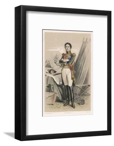 Nicolas-Jean de Dieu Soult Duc de Dalmatie French Soldier and Statesman-F. Philippoteaux-Framed Art Print