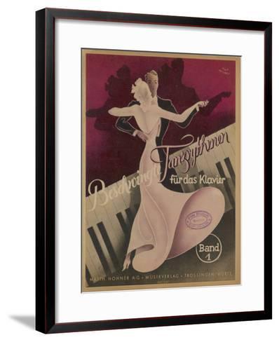 Couple Dancing to Popular Songs of the Day Such as Schade Dass Man Per Telefon Nicht Kussen Kann-Knut Hilscher-Framed Art Print