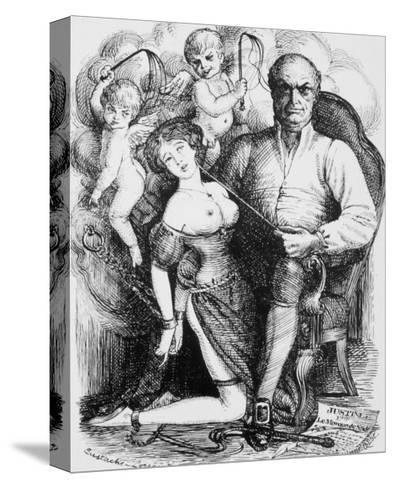Donatien-Alphonse-Francois Marquis de Sade French Philosopher and Author-Eustache L'orsay-Stretched Canvas Print