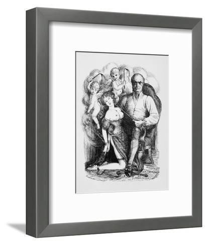 Donatien-Alphonse-Francois Marquis de Sade French Philosopher and Author-Eustache L'orsay-Framed Art Print