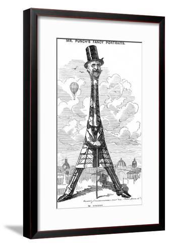 "Gustave Eiffel a Satire on the Recently Built Eiffel Tower: ""Our Artist's Latest Tour de Force""-Linley Sambourne-Framed Art Print"