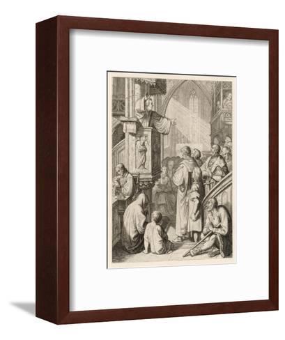 Luther Preaching-Gustav Konig-Framed Art Print