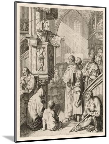 Luther Preaching-Gustav Konig-Mounted Giclee Print