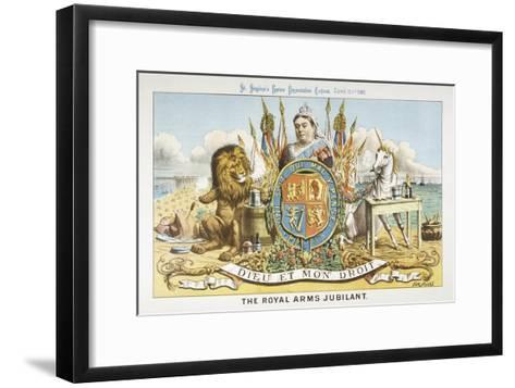 Victoria Depicted with Her Loyal Lion-Tom Merry-Framed Art Print