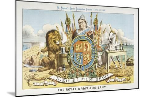 Victoria Depicted with Her Loyal Lion-Tom Merry-Mounted Giclee Print