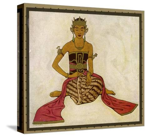 Javanese Dancer in a Seated Pose-Tyra Kleen-Stretched Canvas Print