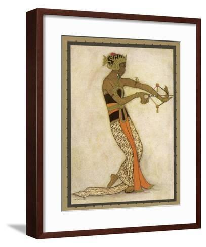 Javanese Dancer Drawing a Bow in a Highly Stylized Movement-Tyra Kleen-Framed Art Print