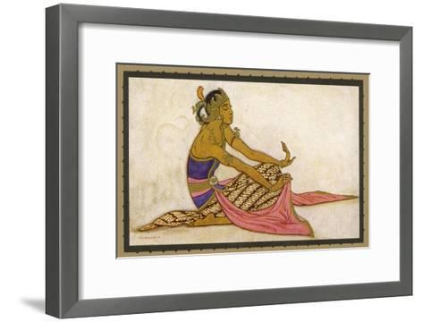 Javanese Dancer in a Seated Pose-Tyra Kleen-Framed Art Print