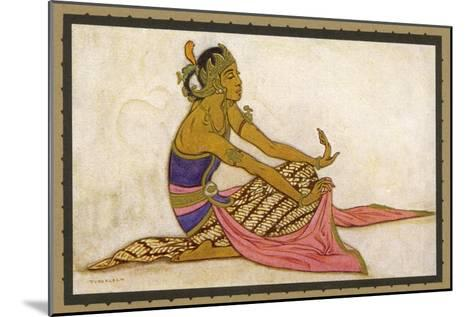Javanese Dancer in a Seated Pose-Tyra Kleen-Mounted Giclee Print