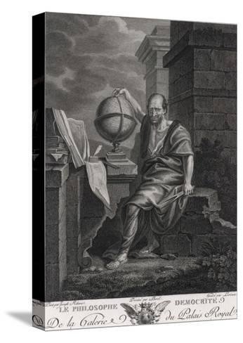 Democritus Greek Philosopher and Scientist- Lorieux-Stretched Canvas Print