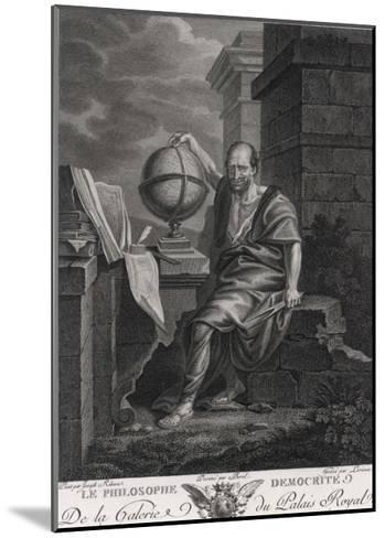 Democritus Greek Philosopher and Scientist- Lorieux-Mounted Giclee Print