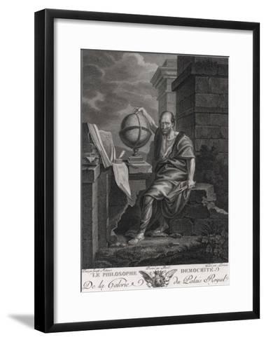 Democritus Greek Philosopher and Scientist- Lorieux-Framed Art Print