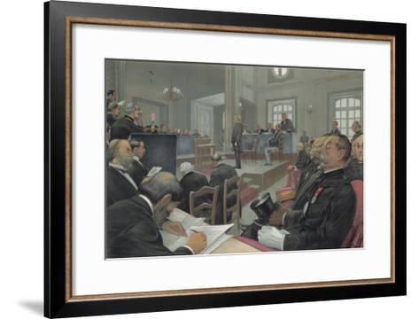 Dreyfus Stands Trial Again at Rennes- Guth-Framed Art Print