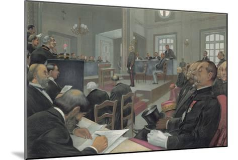 Dreyfus Stands Trial Again at Rennes- Guth-Mounted Giclee Print