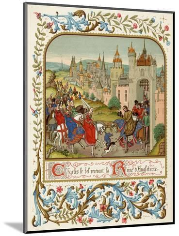 Isabella Queen of Edward II Flees to France and is Received by Charles le Bel- Ronjat-Mounted Giclee Print