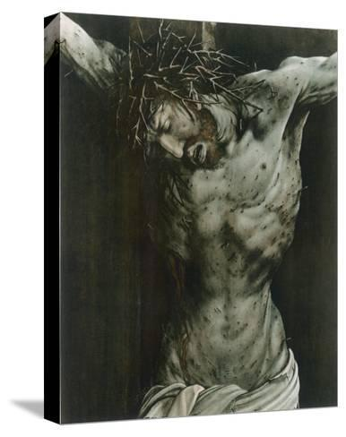 The Dying Jesus-Matthias Gr?newald-Stretched Canvas Print