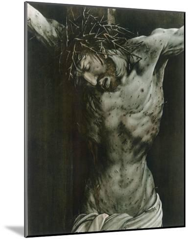 The Dying Jesus-Matthias Gr?newald-Mounted Giclee Print