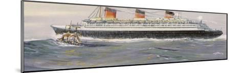 French Transatlantic Liner-Albert Sebille-Mounted Giclee Print