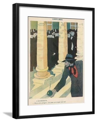 The Anarchist Plants a Bomb-Juan Gris-Framed Art Print