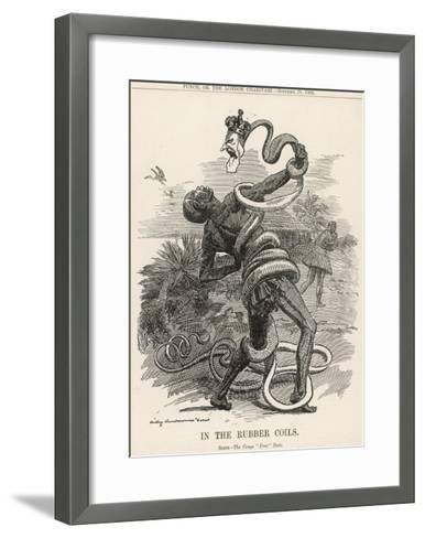 King Leopold II King of the Belgians Crushes the Belgian Congo. in the Rubber Coils-Linley Sambourne-Framed Art Print