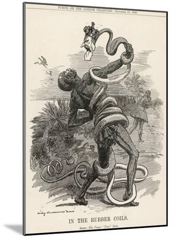 King Leopold II King of the Belgians Crushes the Belgian Congo. in the Rubber Coils-Linley Sambourne-Mounted Giclee Print