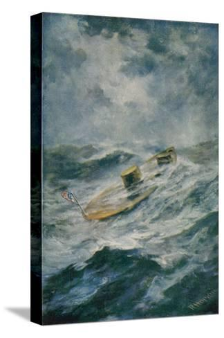 """The """"Monitor"""" in a Storm-Robert Hopkin-Stretched Canvas Print"""